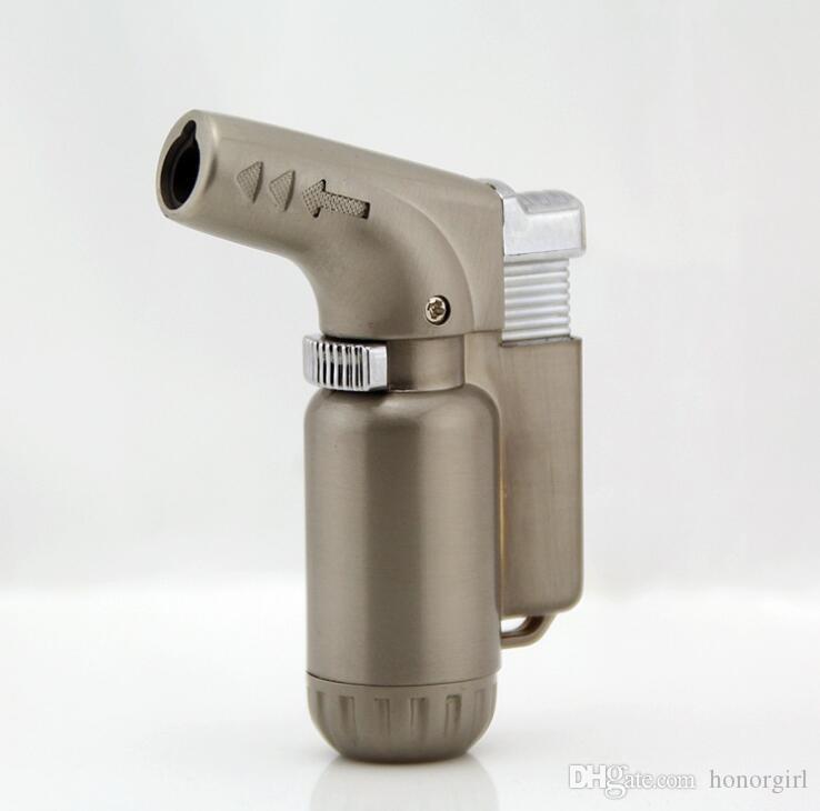 Новые мини Факел струи зажигалка ветрозащитный Бутан сигары сигареты многоразового микро зажигалки нет газа 3 цвет для курения кухонные инструменты