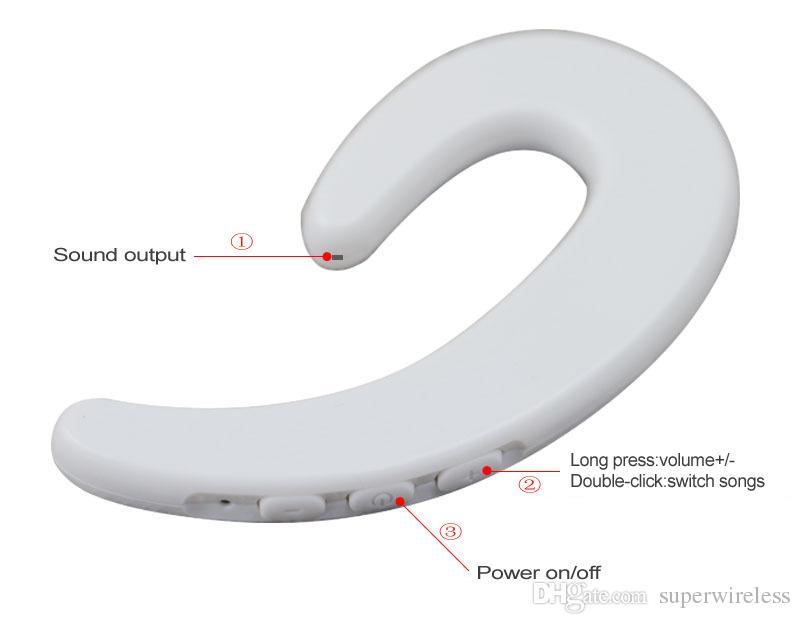 S103 Sport Wireless Bluetooth Earphone Stereo Headset Bone Conduction Bluetooth headphone No earplugs With Mic for Samsung iPhone x 8 Plus