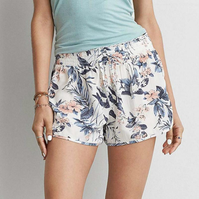 147e42910fa 2018 New Women Summer Flower Printed Sexy Hot Pants Shorts High Waist  Drawstring Print Short Pants Dropship 2018 Online with  30.59 Piece on  Lixlon02 s ...