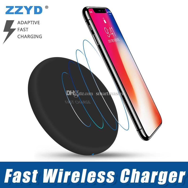 save off 9a6c1 6e97a ZZYD For iPhone X Wireless Charger Pad with USB Cable Quick Charging  Charger For Samsung S8 Note 8