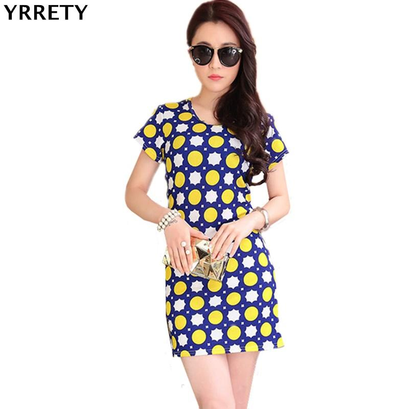 a6d96ba2b7 YRRETY Office Ladies Casual Mini Dresses Workwear Black White Patchwork  Short Sleeve Shift Printing Casual Party Summer Dress Green Dress Party  Pink And ...