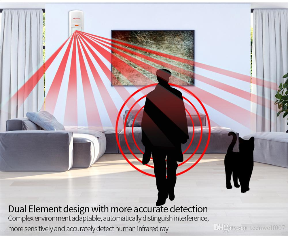 Wolf-Guard 3G GSM Wireless Home Alarm Security Burglar System App Control Door/Window Sensor PIR Motion Detector Keyfob SOS Button M3GS1
