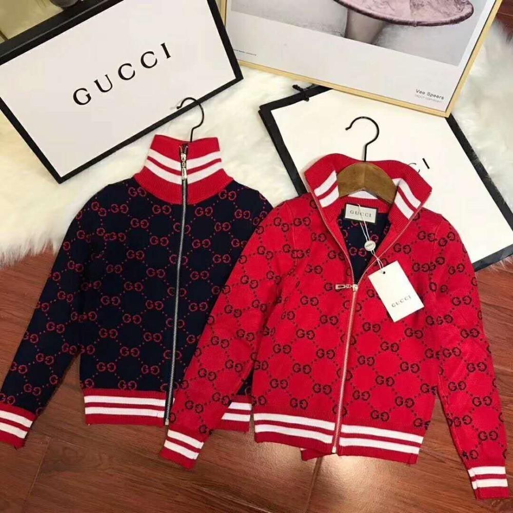 691fd7b8ed8aa4 2018 Autumn And Winter New Children Dresses Stand Collar Cardigan ...