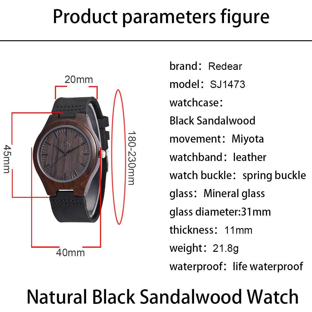 Top Gift Wood Watches Retro Men's Unique 100% Nature Wooden Bamboo Handmade Wrist Watch Ladies clothing lovers wristwatch Leather strap