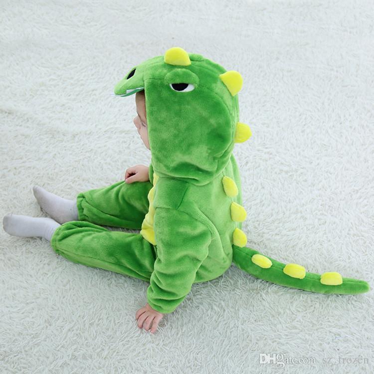 Хеллоуин одежда детские комбинезоны весна новые мальчики / девочки фланелевые мультфильм динозавр джемпер комбинезон для вечеринки хэллоуин рождество A-568