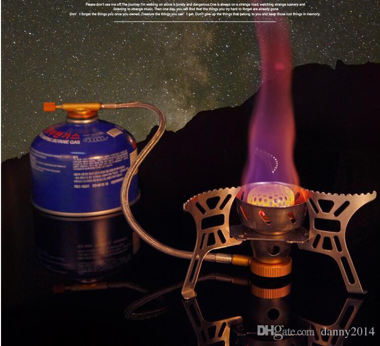Estufa de gas plegable al aire libre Estufas de acampar Estufa portátil de gas portátil con estufa portátil plegable de la caja 3000W