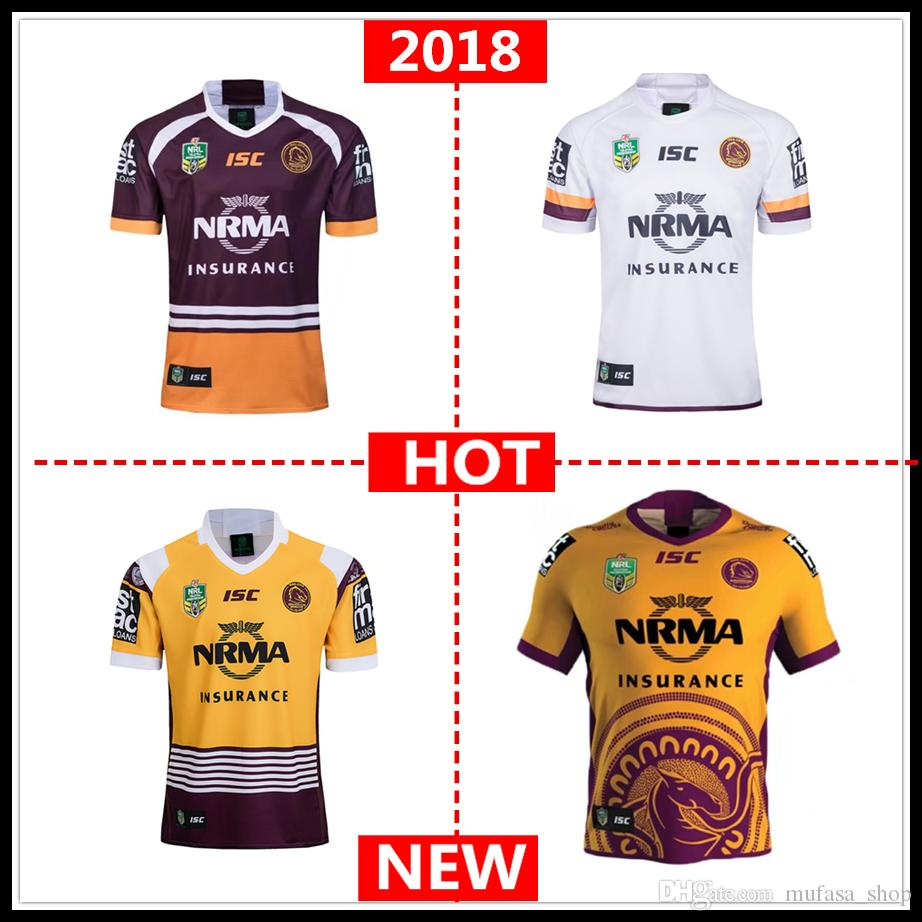2019 2018 2019 Brisbane Broncos Home Away INDIGENOUS JERSEY NRL National  Rugby League Rugby Shirt Brisbane Broncos Rugby Jerseys Shirts S 3xl From  ... aa0218369