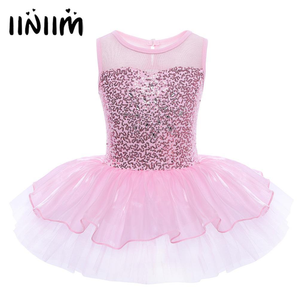 c6c56f1ce 2019 Sleeveless Ballerina Fairy Prom Party Costume Kids Girls ...