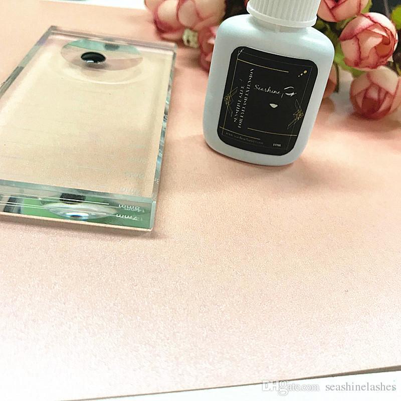 صدف الحساسة الفردية أدوات ماكياج رمش الغراء أبخرة قوية ل 10 ملليلتر برو رمش الغراء تمديد الغراء ل جلدة شحن مجاني