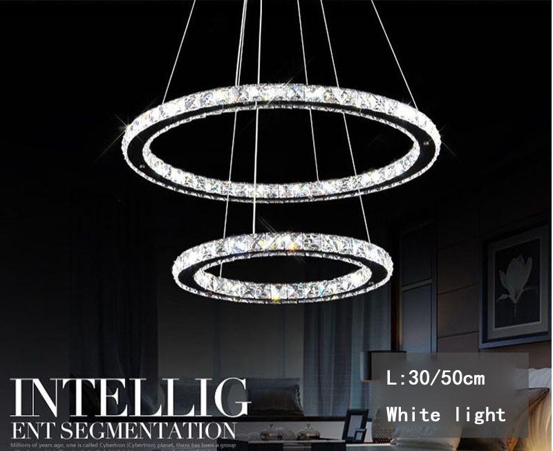 Modern LED Crystal Chandelier Lights Lámpara para la sala de estar Cristal Lustre Chandeliers Lighting Colgante Hanging Ceiling Fixtures
