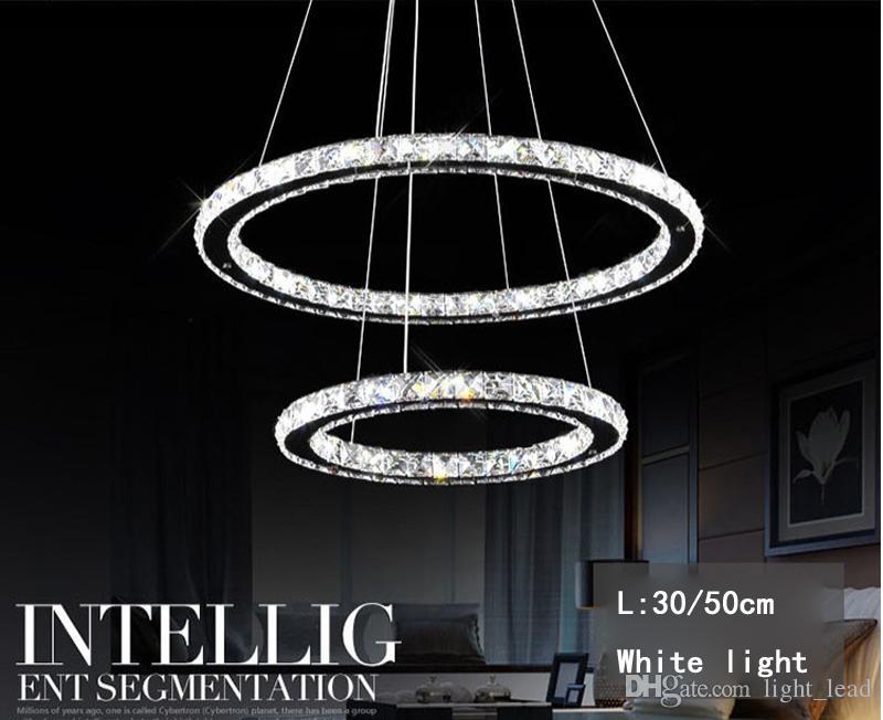 Moderna lampada a sospensione a LED lampadario di cristallo soggiorno Cristal Lustre Lampadari di illuminazione a sospensione appeso a soffitto
