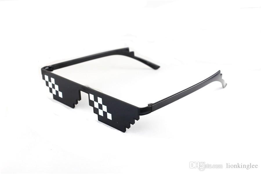860296c5789 Cool Fashion Outdoor Mosaic Glasses 8 Bit MLG Pixelated Sunglasses Men  Women Thug Life Party Eyeglasses Mosaic EyeweaDHLEMS Shipping Sunglasses  Women ...