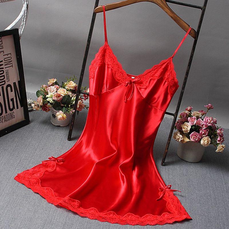 2019 Sexy Women Nightgown Hot Nightwear Sexi Slits Nightdress Nightie  Vintage Home Sleepwear Female Pijama White Black Dress From Baimu fc0052c4f