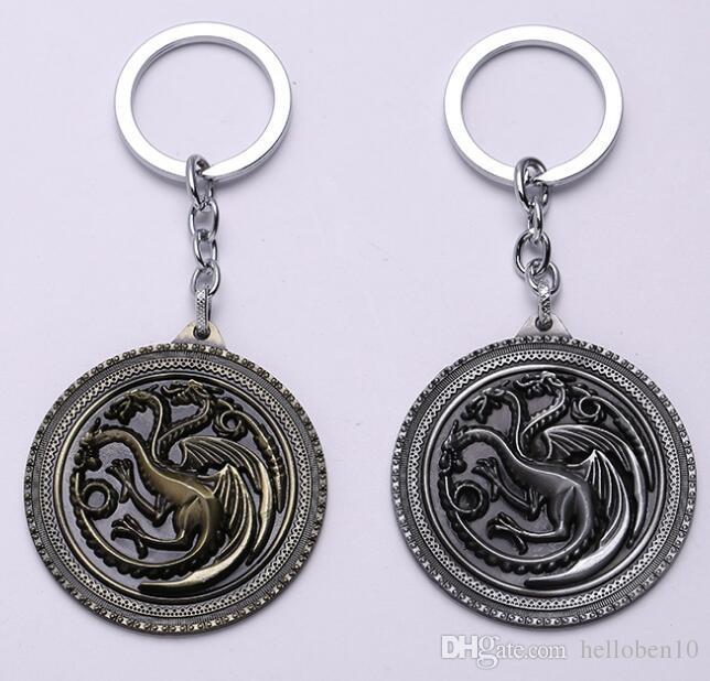 Acheter Game Of Thrones Porte Clés Chant De Glace Et De Feu Porte Clés  Targaryen Alliage Pendentif Lannister Porte Clés Unisexe Souvenir De  19.1  Du ... 9dde0789173