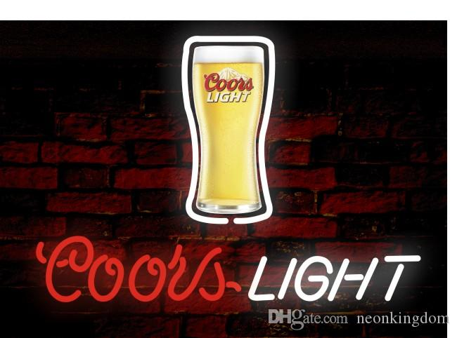2018 Coors Light U0026Beer Neon Sign Real Glass Tube Bar Store Business  Advertising Home Decoration Art Gift Display Metal Frame Size 17u0027u0027X14u0027u0027  From Neonkingdom ...