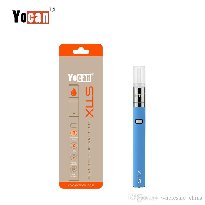 100% Original Yocan STIX Starter Kit Built-in VV Battery with Cartridges Leak-proof Vaporizer Newest Electronic Cigarette Starter Kit