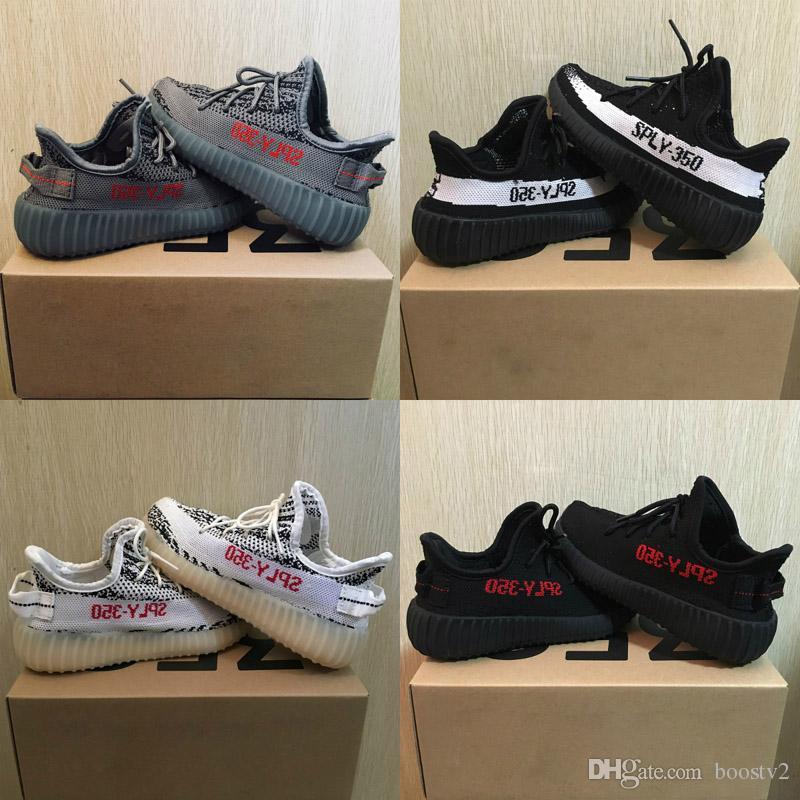 aff6d7fbb6d Hot Sale Kids Shoes Kanye West SPLY 350 V2 Running Shoes Children ...