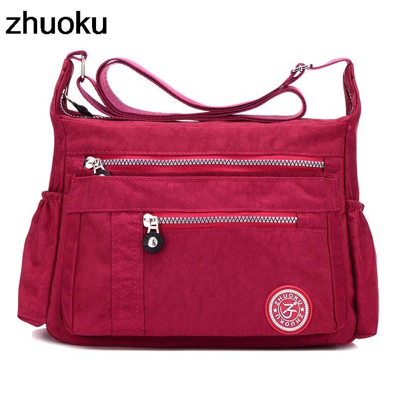 adbed3a73c68 ZHUOKU Luxury Women Messenger Bag Waterproof Nylon Shoulder Bags Ladies  Bolsa Feminina Travel Bag Women S Crossbody Bag Leather Backpack Clutch Bags  From ...