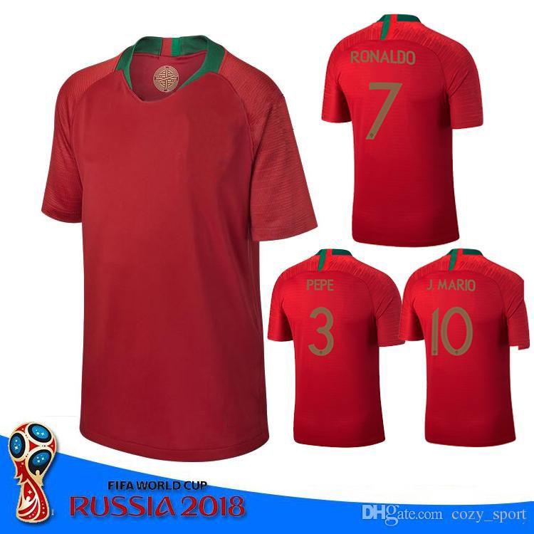 portugal 2018 world cup home away soccer jersey ronaldo pepe f.coentrao j.moutinho nani carvalho quaresma andre gomes soccer football jersey world cup