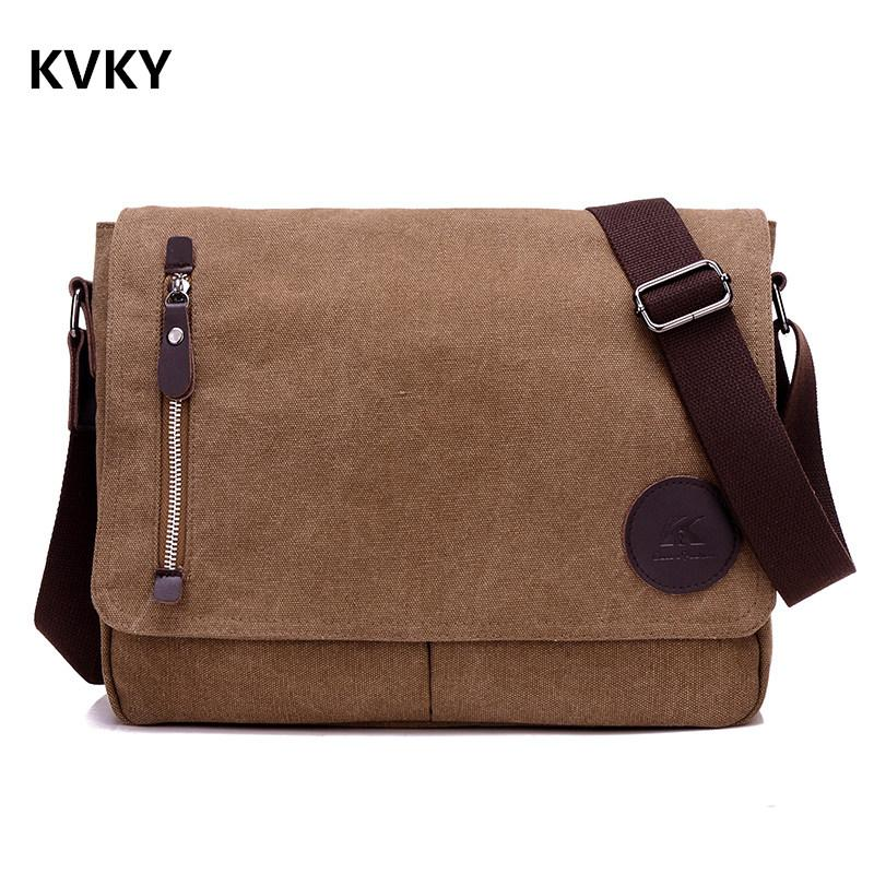 Vintage Men Canvas Messenger Bags Black Travel Bag Male Shoulder Crossbody  Bag Classical Casual Trunk Unisex Big Handbags Messenger Bags For Women  Leather ... 16abe183f1665