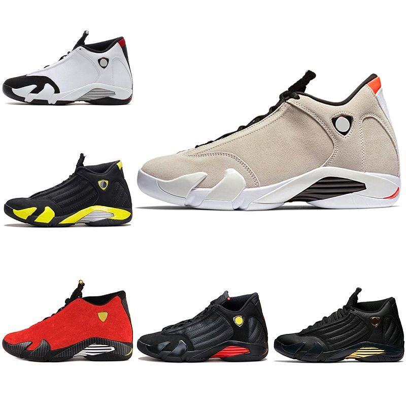 Jordan Retro 14 Desert Sand Basketball Shoes High Cut Winter Outdoor Sneaker Orange Heels Increased Footwear Simulators