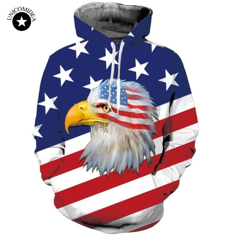 be565be7521d Top Quality USA Flag Eagle Hoodies Men/Women Sweatshirt 3D Printed Pullover  American Flag Hoody Tracksuit Men Hip Hop Hooded