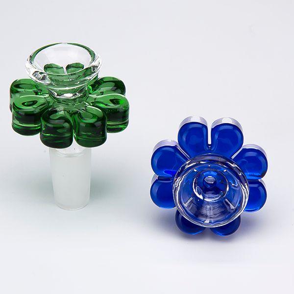 Tigela De Vidro colorido Erva Titular Flor estilo 10mm 14mm 18mm Masculino Fumaça Acessório Para Tubo De Água De Vidro Bong