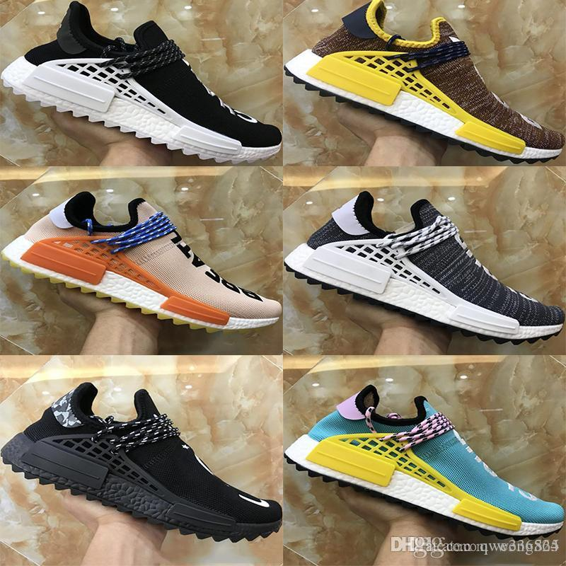 5a8660ab5edcb 2018 New Originals Pharrell Williams Human Race Nmd Shoes Men Women Nmds  Black White Grey Red Primeknit PK Runner XR1 R1 R2 Sneakers Sport Shoes For  Boys ...