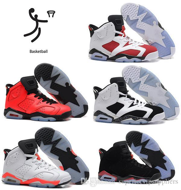 finest selection 86dcd 68cb1 (With Box)Wholesale OG MAROON 6s Gatorade 6 UNC INFRARED RED Top Quality  man basketball shoes With Box Sport Shoes Size 41-47 Free shipping