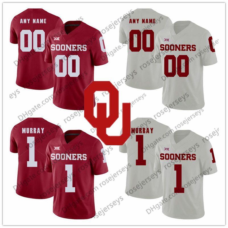 2019 NCAA Oklahoma Sooners  12 AD Miller 84 Lee Morris 18 Curtis Bolton 44  Brendan Radley Hiles 45 Carson Meier 2018 New Red White Jerseys From  Rosejerseys 887c80340