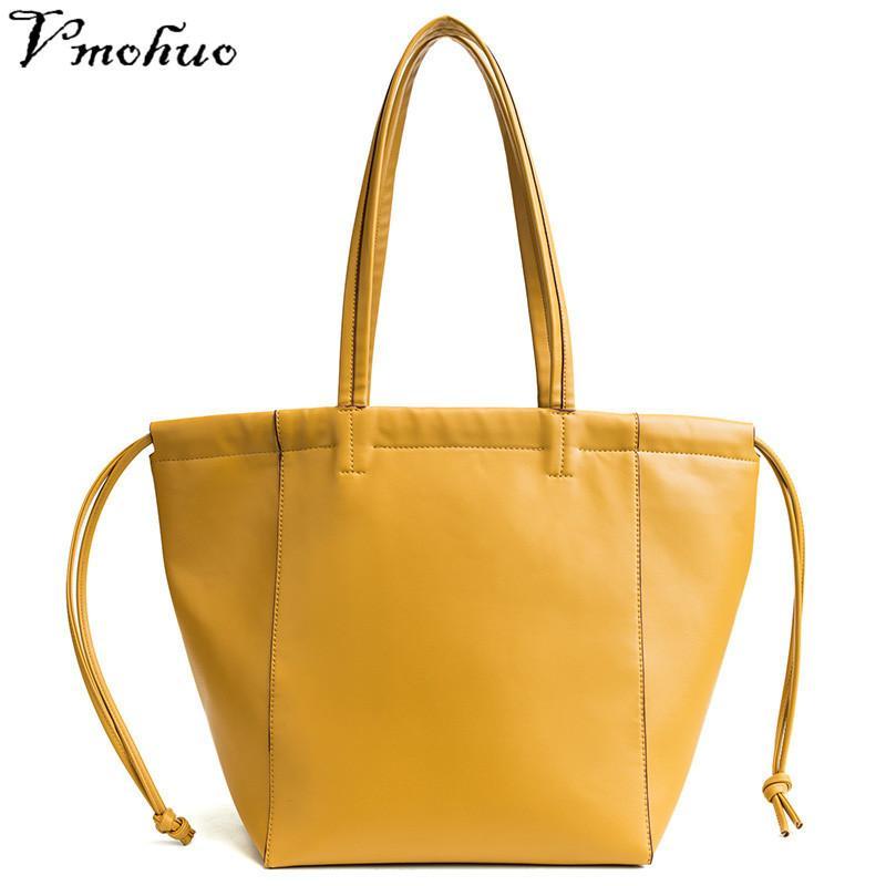 bd1364f2c5 2019 Fashion VMOHUO Female Bags With Drawstring Women Big Totes Bag Brand  Women Handbags Big PU Leather High Quality Bolsos Mujer Sac A Main Man Bags  ...
