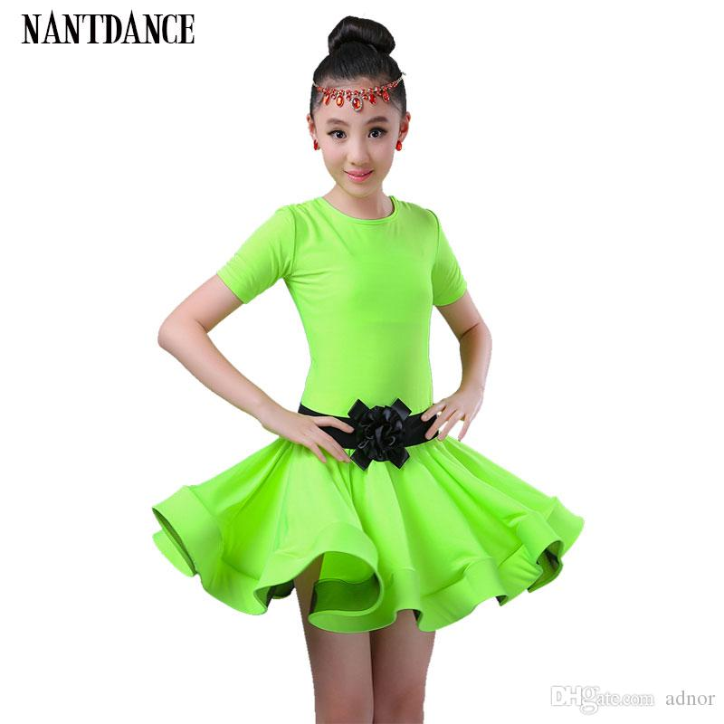 27b4336ae 2019 Girl Latin Dance Children Dance Dress For Girls Cha Cha Kid  Competition Latin Dress Dancing Girl Ballet Dancewear Kid Latin Costume  From Adnor, ...