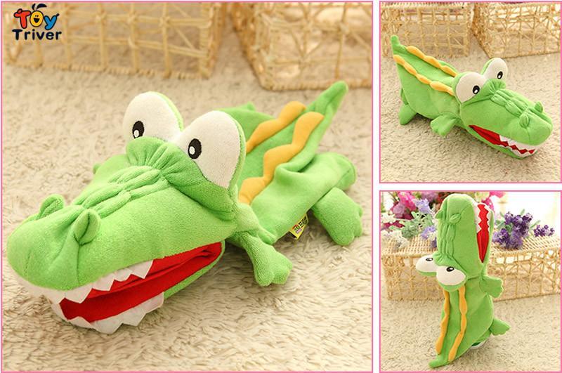 35 cm Plush Crocodile Fantoches de Mão Boneca Brinquedos Pai-filho Interativo Jogos Presentes de Natal Presentes de Aniversário Para O Bebê Crianças Triver