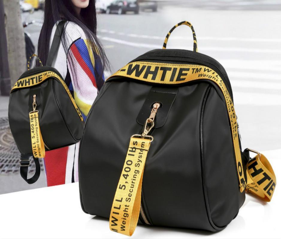 4daafe2a3890 2018 New Women s Double Shoulder Bag Fashionable Letter Color Ribbon Double  Shoulder Backpack Student Schoolbag Wholesale Backpack Schoolbag Bag Online  with ...