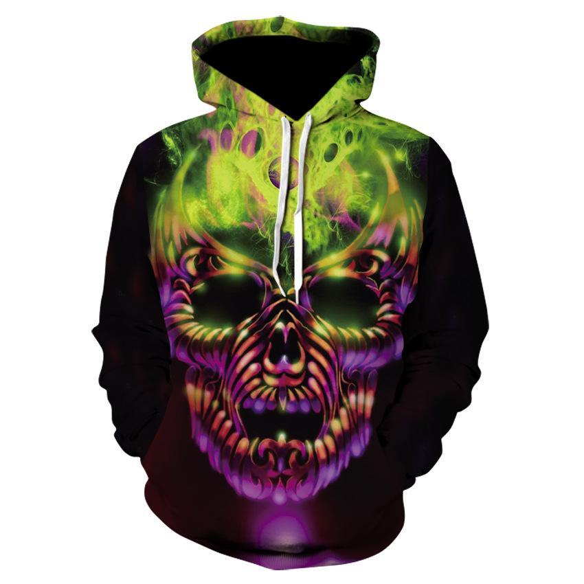 9d8cc313e4b914 2018 New 3D Printing Skull Hoodies Men Hoody Printed Tracksuit ...