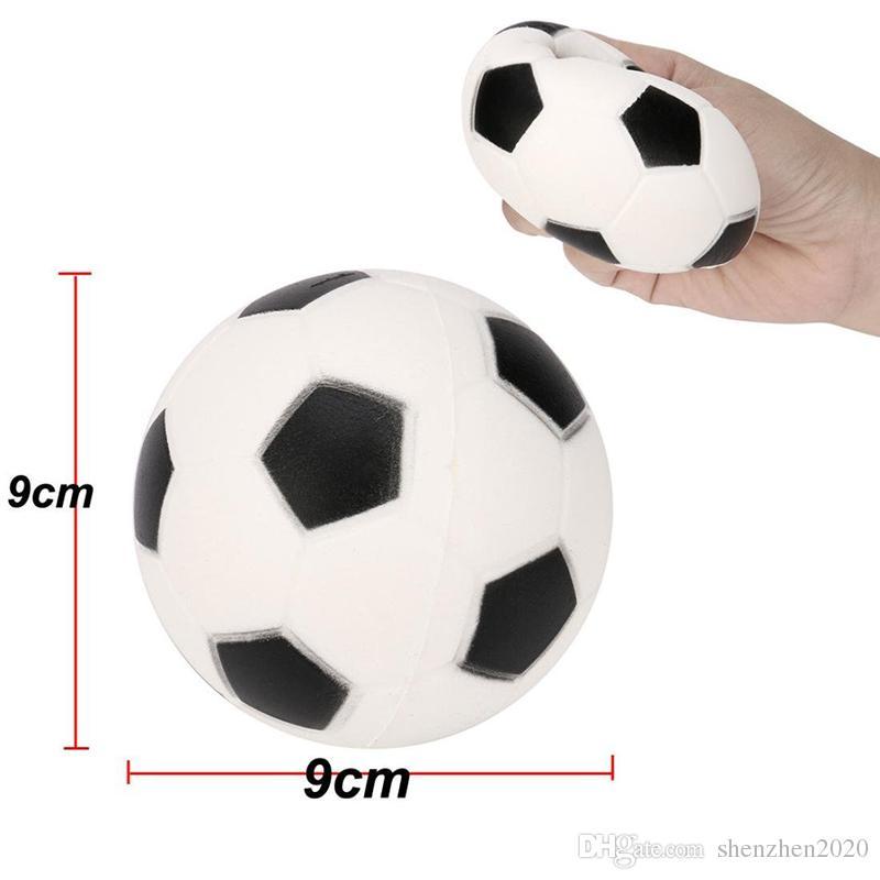 Futbol Futbol Squishy Oyuncaklar Beyzbol Basketbol Voleybol Yavaş Yükselen Jumbo Sıkmak Telefonu Takılar Krem Ekmek Stres Rahatlatıcı Hediye