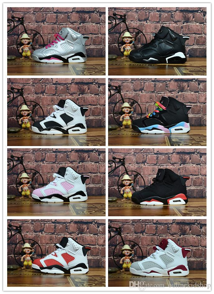 d7053ff45f5 Black Infared 6s VI Kids Basketball Shoes Gatorade Hare Oreo Infant & Toddler  6 Trainers Boy Girl Sneakers Athletic Shoes For Girls Athletic Shoes Kids  From ...