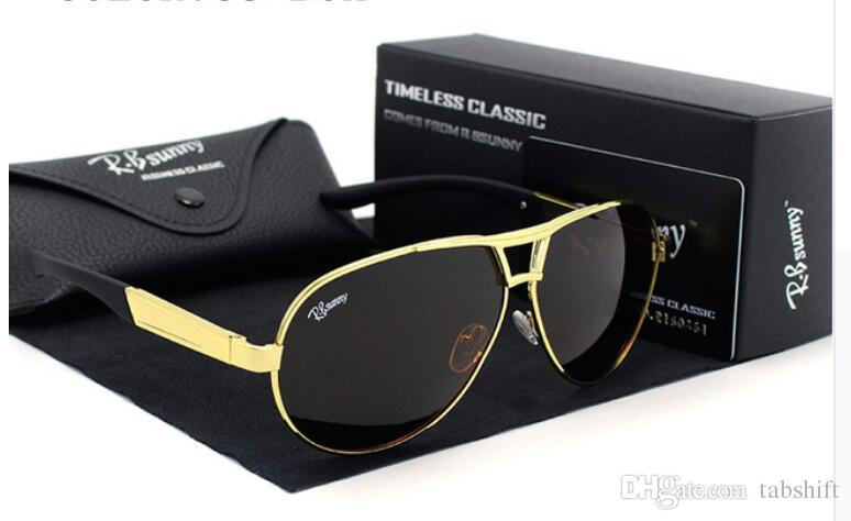 e8332b3572 Fashion Brands Polarized Sunglasses Men Business Classic High ...