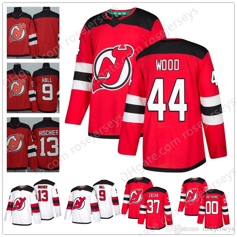 save off 7dff2 2d826 2019 New Jersey Devils #5 Connor Carrick 6 Andy Greene 35 Cory Schneider 44  Miles Wood 21 Kyle Palmieri Red White Third Jerseys