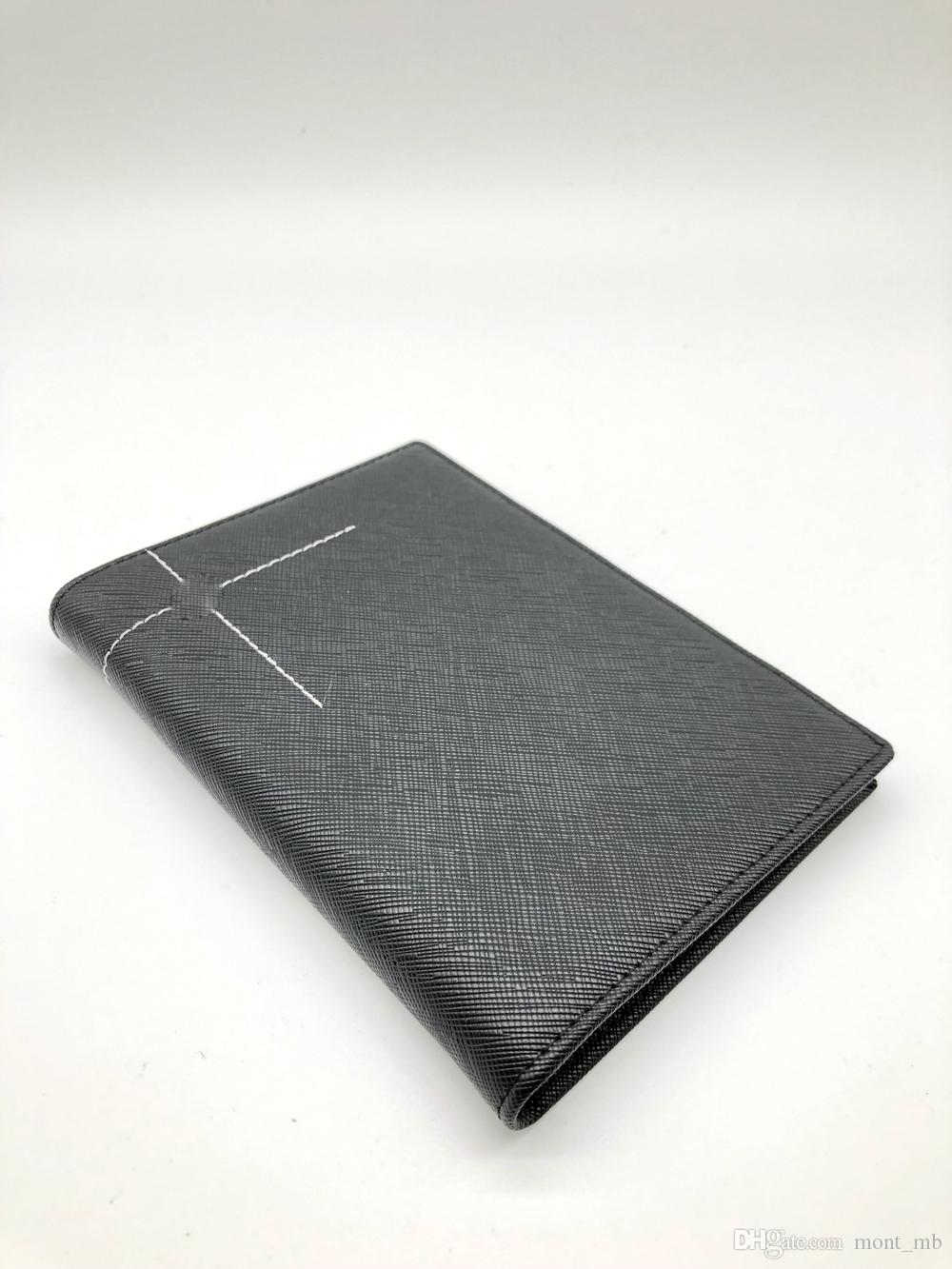 New Cross Men Business Black M B Classic Credit Card Holder Cover Cover Leather MT Travel Wallet Passport Thin Card Set