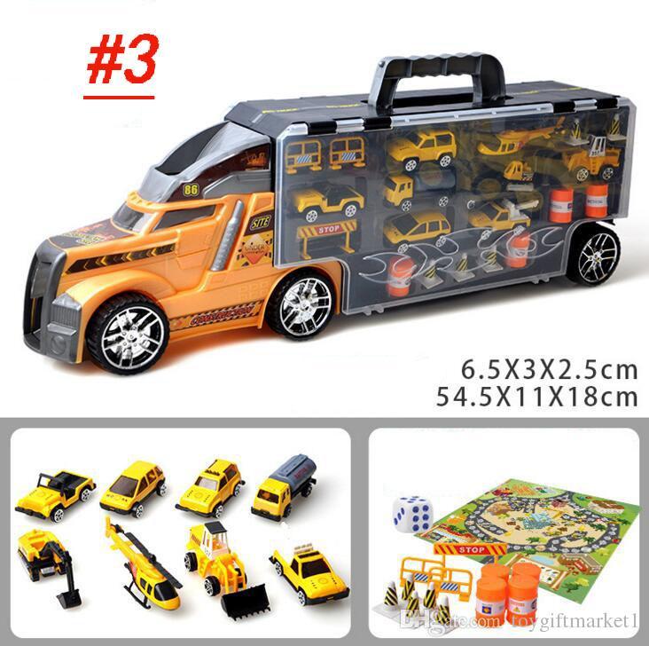 Alloy Toy Car Suit Children Model Container Car Simulation Car Toy 12 Alloy Boy Toy Wholesale