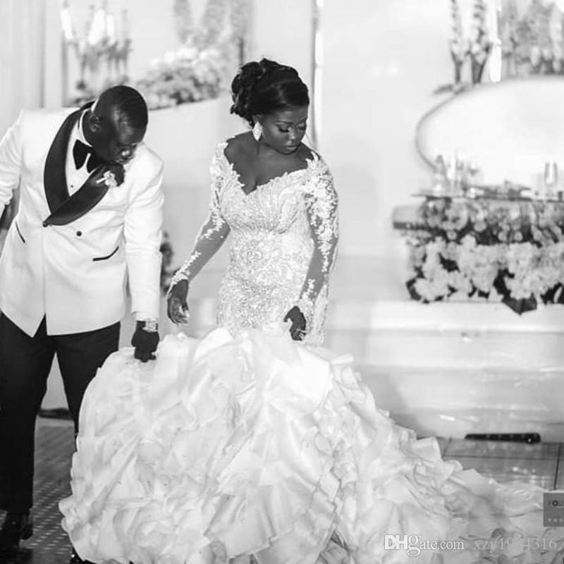 compre vestido de la boda del tamaño extraterrestre sudafricano