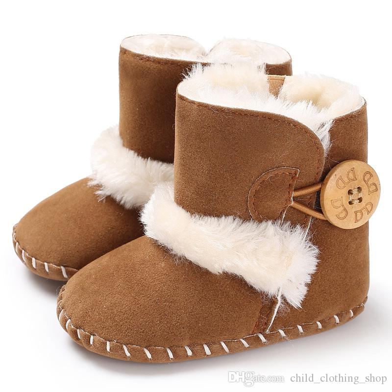 Casual Newborn Infant Baby Girls Boys Ankle Snow Boots Non Slip Winter Half  Boots Soft Bottom Keep Warm Fur Plush Insole Shoes Cute Girl Boots Black  Boots ... a3edcd3cdafd