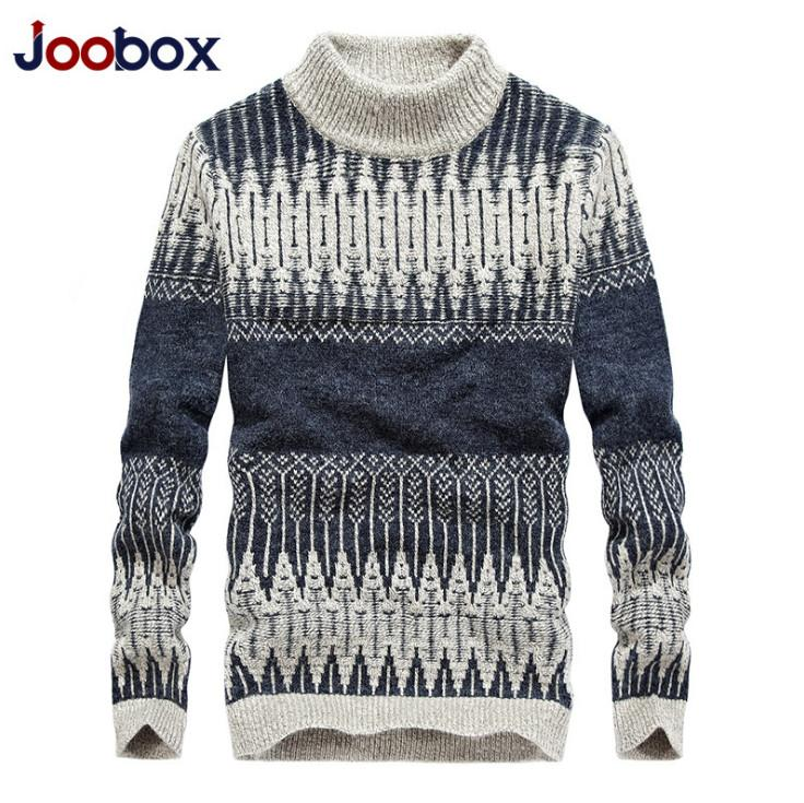 2019 Turtleneck Sweater Men Winter Warm Wool Sweater Slim Fit