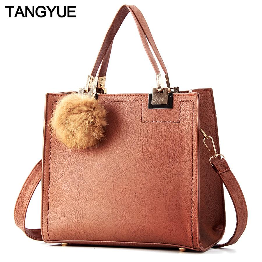 TANGYUE Leather Hand Bags for Woman Shoulder Crossbody Bag for Woman Small Women's clutch Ladies Handbag Luxury bolsos mujer sac