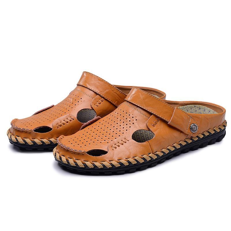 5e362feabc3e Super Comfortable Men Summer Sandals Genuine Leather Men Casual ...