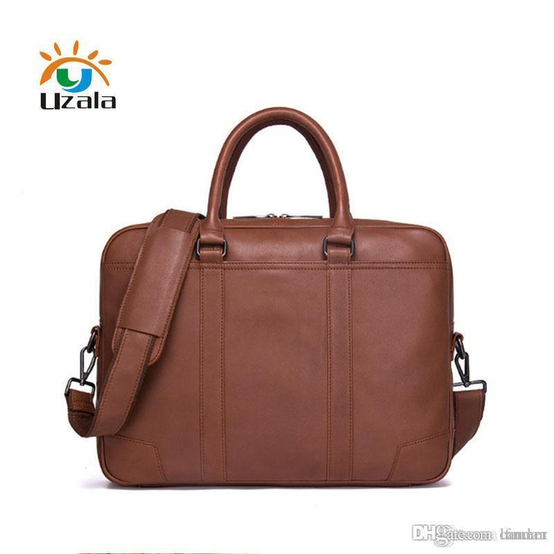f1d749525725 Fashionable casual men's leather briefcases W3-104