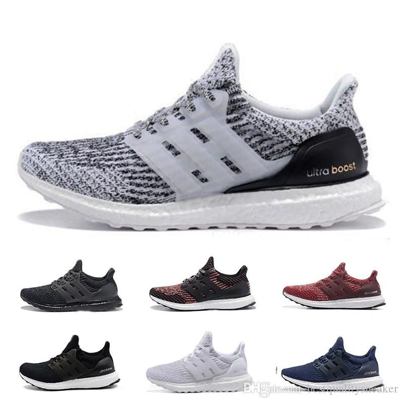 ebb3c76bf2b08 2019 Ultra Boost 3.0 5.0 Running Shoes For Men Women High Quality Triple  Black White Primeknit Oreo Blue Ultraboost Sports Sneakers 36 46 From ...