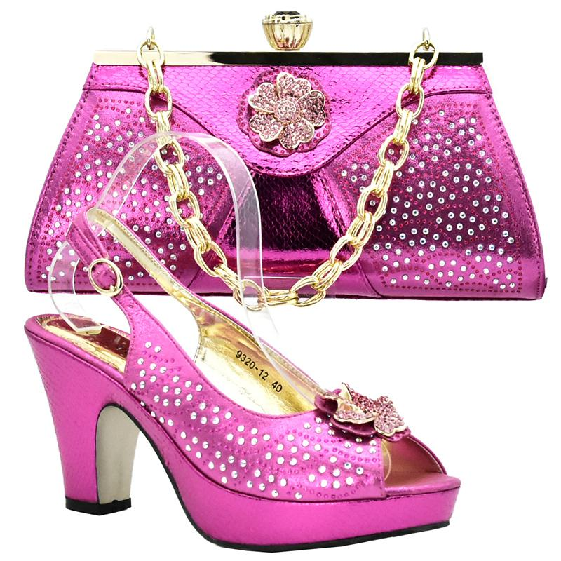6eec3d7dc Italian Shoes And Bags To Match Shoes with Bag Set Decorated with ...