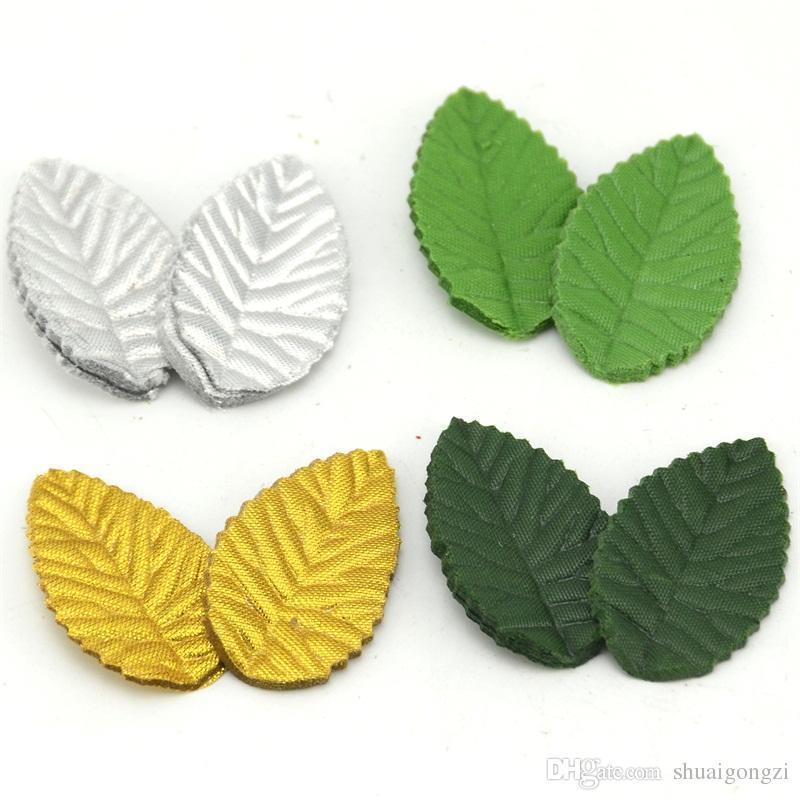 Compre 200 Unids Verde Deja La Flor Artificial Para La Decoración De ...